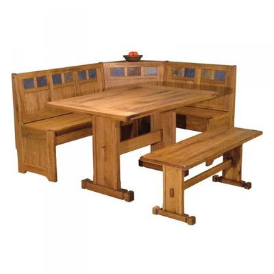 Just Cabinets Sedona Corner Nook 3 Piece Dining Set & Reviews | Wayfair