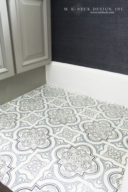 Black And White Marble Quatrefoil Screen Printed Tiles