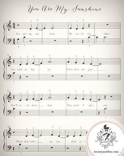 Lullaby Sheet Music Nursery Prints Le By Honeyandfitz 15 00