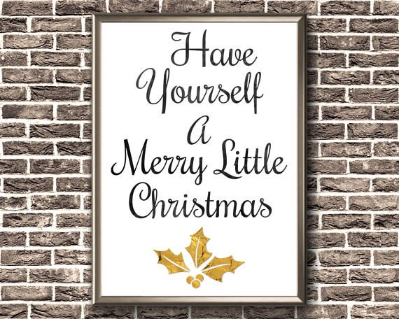 Christmas Printable Decor  Have Yourself A Merry Little