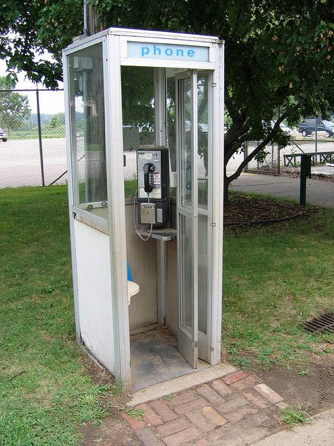 Phone booth...