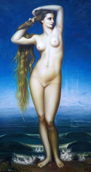Painting, Naked Woman, Naked, Art, Antiquity, Female