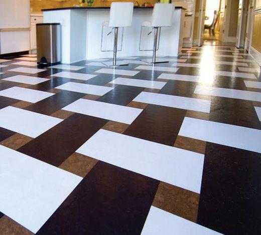Фото плитки на полу кухни - дизайн кухонного кафельного пола