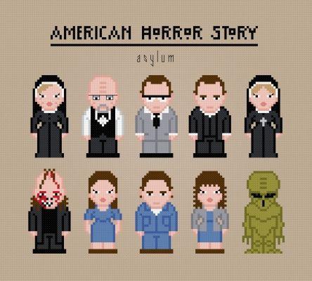 American Horror Story. Asylum http://pixelpowerdesign.com/shop/tv/product/show/333-american-horror-story-asylum