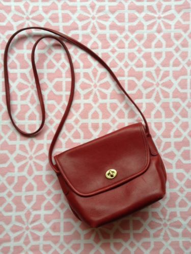 Vintage Burgundy Red Leather Coach Purse Quincey