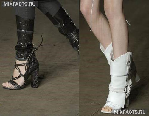 летние сапоги модные тенденции