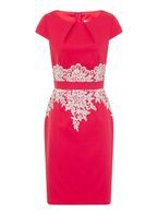 Womens **Paper Dolls Coral Pencil Dress- Coral