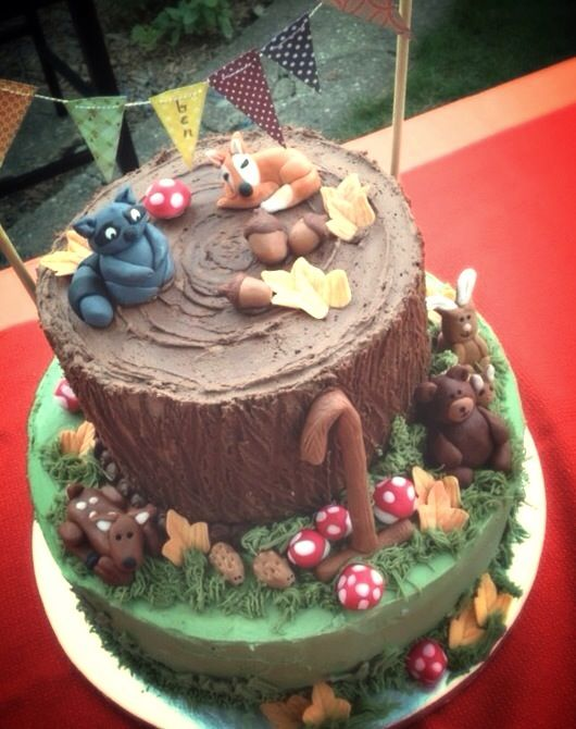 Woodland creatures cake | Cake Creativity | Pinterest ...