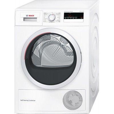 Bosch WTM85250GB 8kg Heat Pump Tumble Dryer in White #BoschApplainces #TumbleDryer #HomeAppliances #AtlanticElectrics