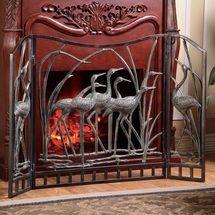 Crane Fireplace Screen   33791