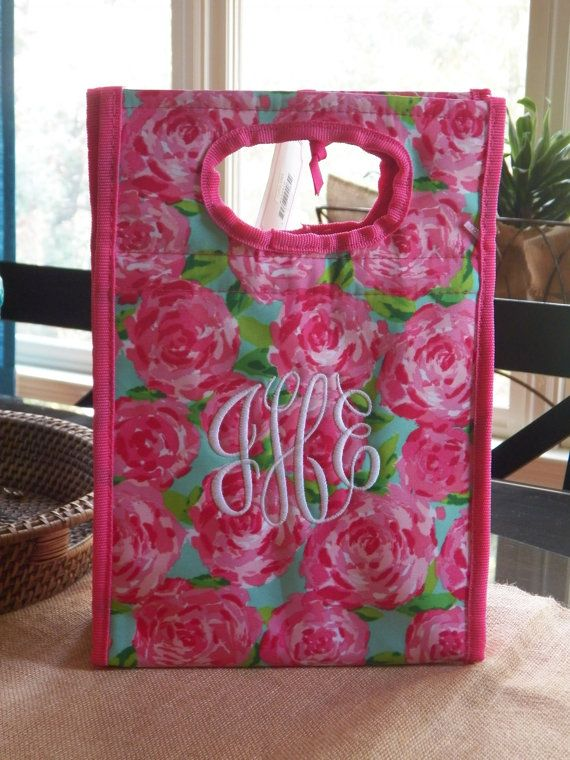 Lilly Pulitzer First Impression Monogrammed Lunch by polkadotsmg, $28.95