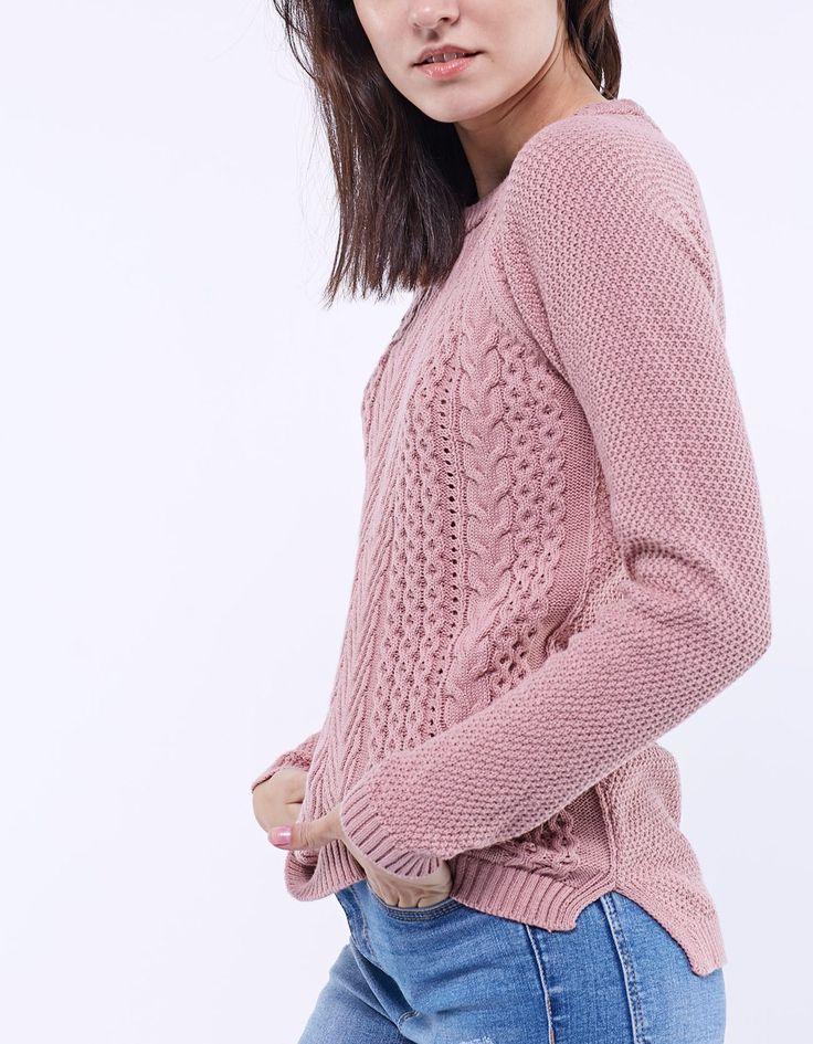 STRADIVARIUS / Trykotowy sweter ze splotem  05016114-V2017