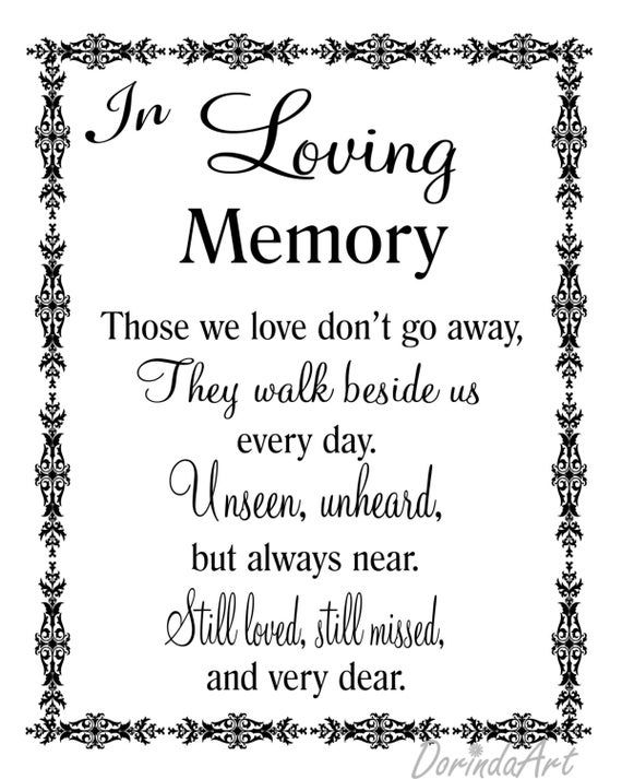 In Loving Memory Of Grandma Quotes : loving, memory, grandma, quotes, Loving, Memory, Printable, Memorial, Table, Wedding, Quotes, Those, Don't, Reception, DOWNLOAD, Memories, Quotes,