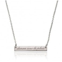 DANCE IN THE RAIN NECKLACE - SILVER