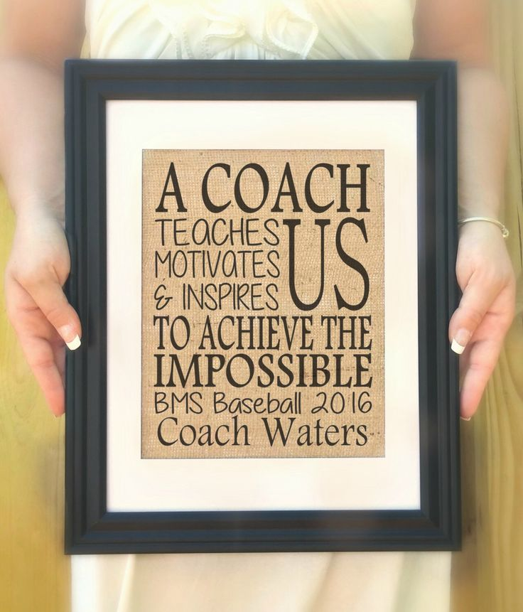 Personalized gift for Coach - A coach teaches us motivates us & inspires us - Coach Gift, Hockey Coach, Baseball Coach, Football Coach Gift by Allaboutthenames on Etsy https://www.etsy.com/listing/223626030/personalized-gift-for-coach-a-coach