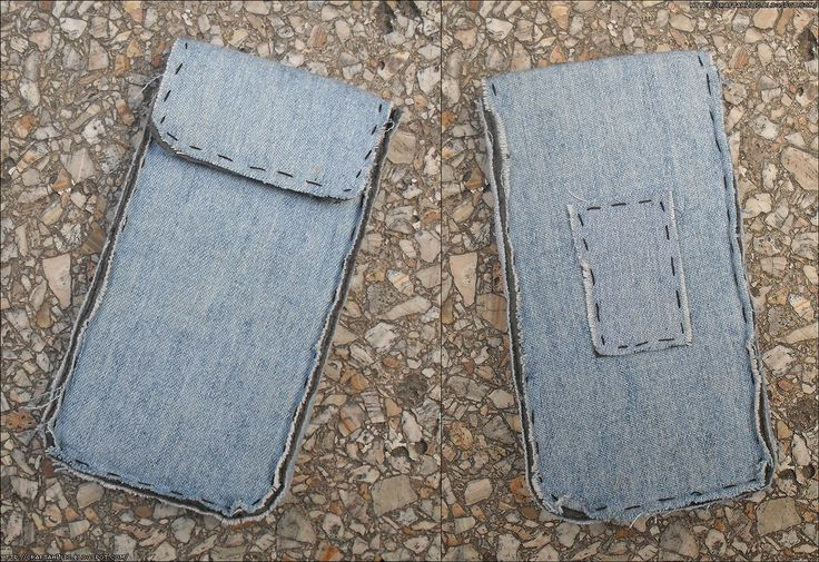 Denim Cellphone Pouch