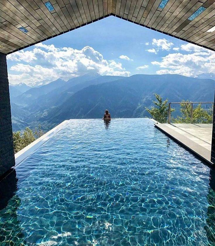 Infinity view at Miramonti Boutique Hotel ~ Avelengo, Trentino-Alto Adige, Italy