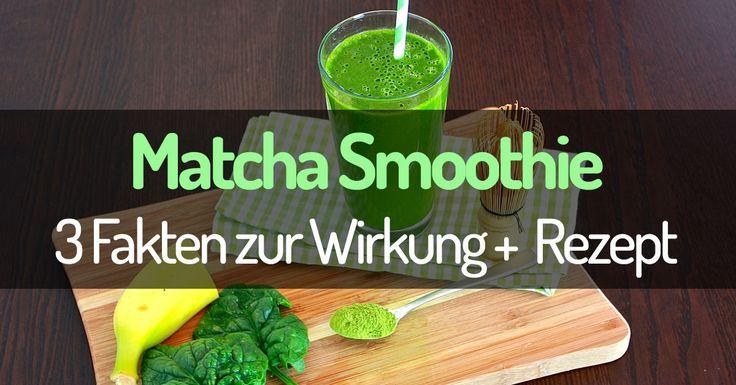 Bist du häufiger müde? Dann mix dir einen belebenden Matcha Smoothie! Lies die wichtigsten 3 Fakten zur Matcha Tee Wirkung und probiere das Matcha Smoothie Rezept!