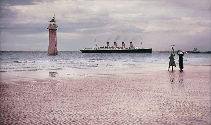 The RMS Mauritania. Colorized by Daryl LeBlanc.