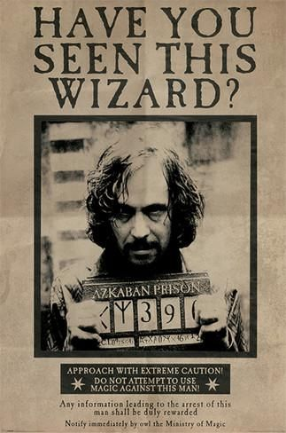 Harry Potter- Sirius Black Wanted Poster Posters sur AllPosters.fr