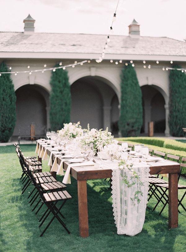Elegant Outdoor Garden Wedding In Utah at Thanksgiving Point
