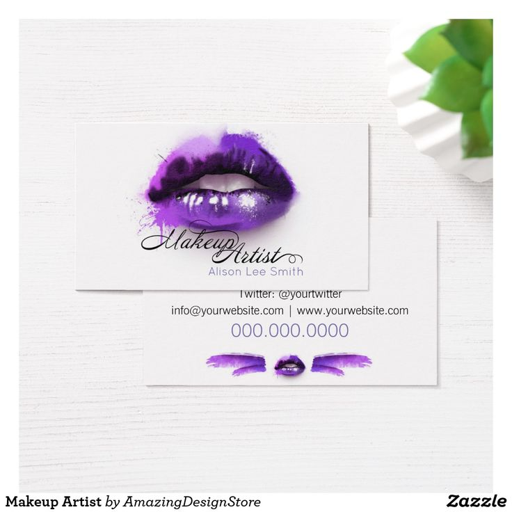 makeup artist cover letters%0A Makeup Artist Business Card