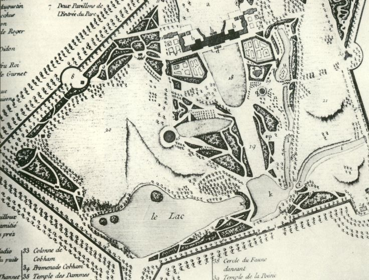 Plan of Stowe Garden in the UK -from the archives -Boy could they draw way back then!