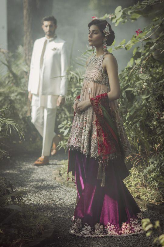 Elan's 'Palais Indochine' bridal collection featuring models Amna Baber and Jahan e Khalid, Fall/Winter 2016