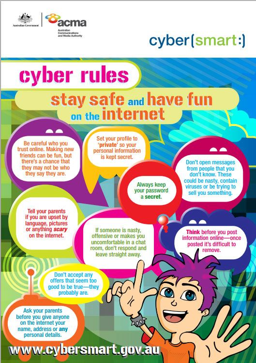 Cyber safety rules poster
