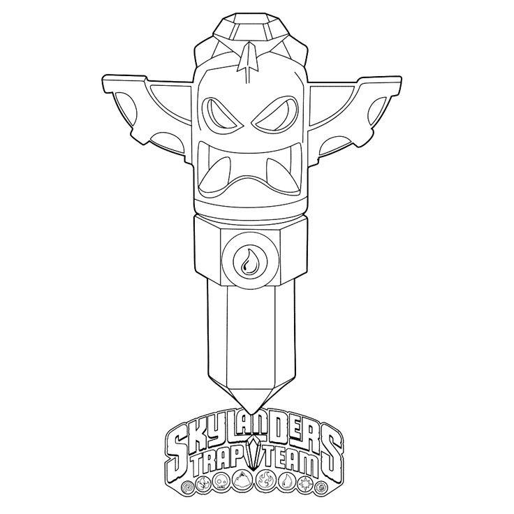 skylanders trap team coloring pages golden queen | bekijk: skylanders-trap-team-0007 kleurplaat | Skylanders ...