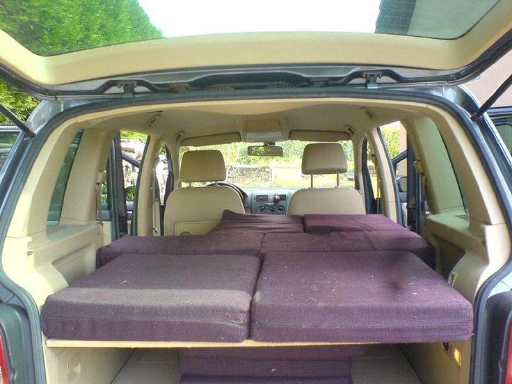 am nagement couchette dans touran autos pinterest. Black Bedroom Furniture Sets. Home Design Ideas