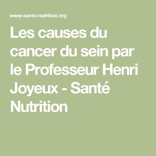 Les causes du cancer du sein par le Professeur Henri Joyeux - Santé Nutrition