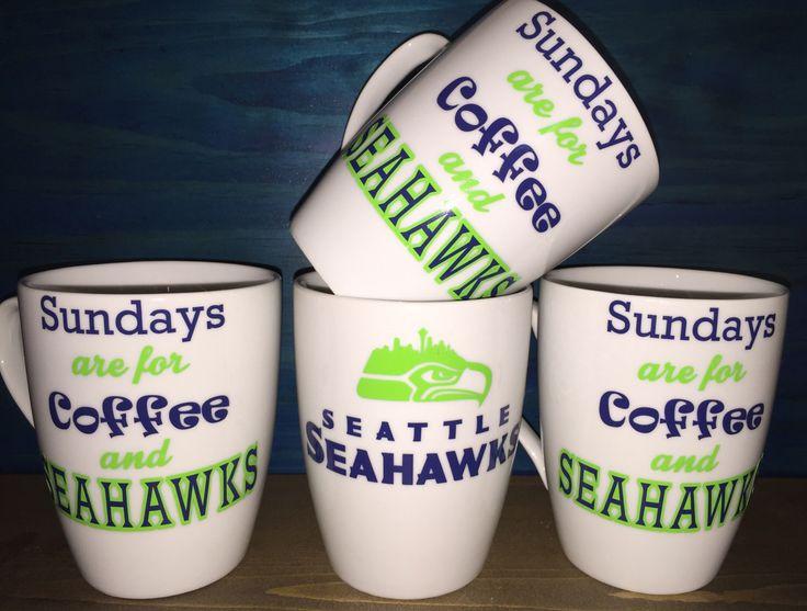 Seattle Football SeaHawks Coffee Cup/Mug by TheHawksScore on Etsy https://www.etsy.com/listing/232518531/seattle-football-seahawks-coffee-cupmug