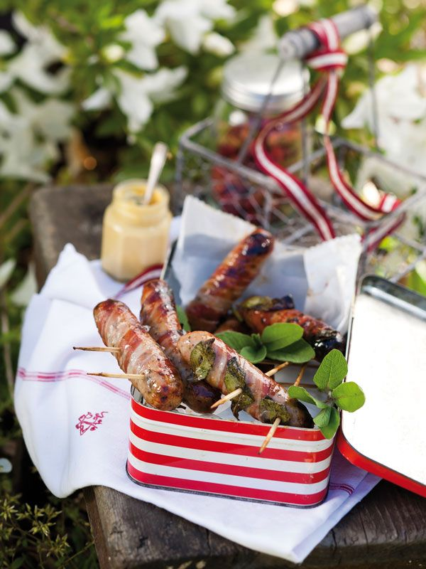 Bite-sized Sausages With Pancetta