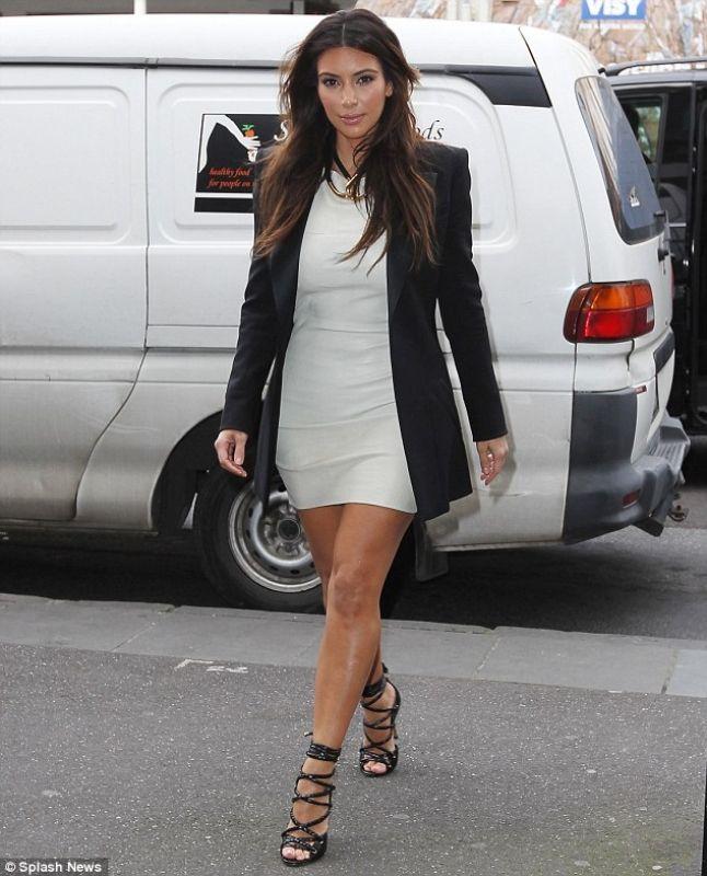 Kim k long dresses casual