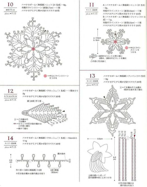 Snowflake Crochet Diagram Square Electrical Work Wiring Diagram
