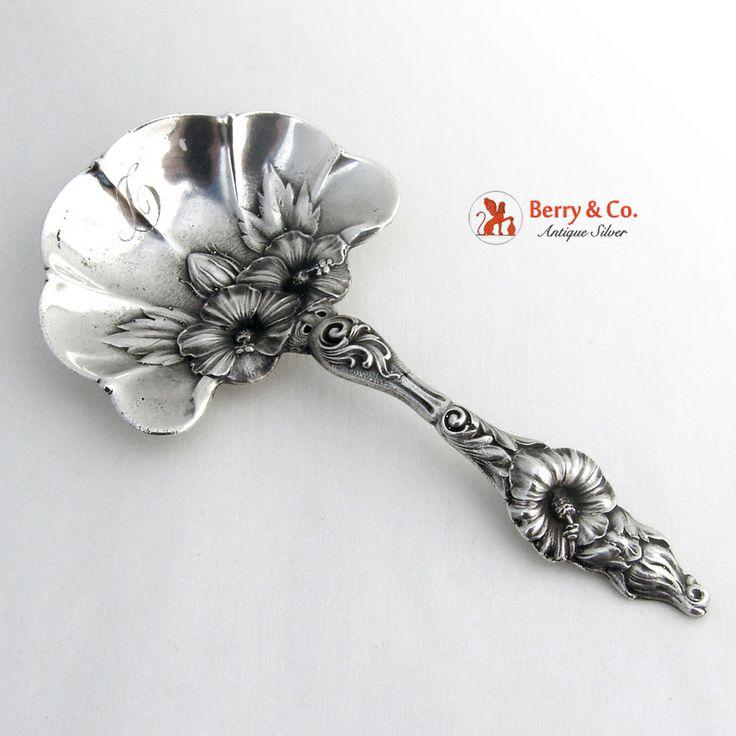 Hibiscus Bon Bon Spoon Sterling Silver Whiting 1900