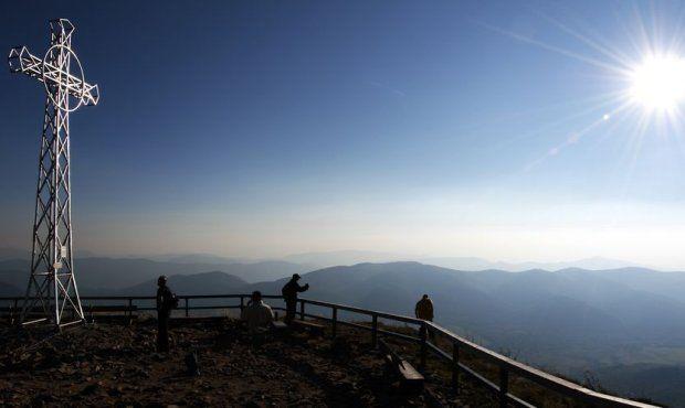 Tarnica Mountain view at Tatra Mountains and Ukraine