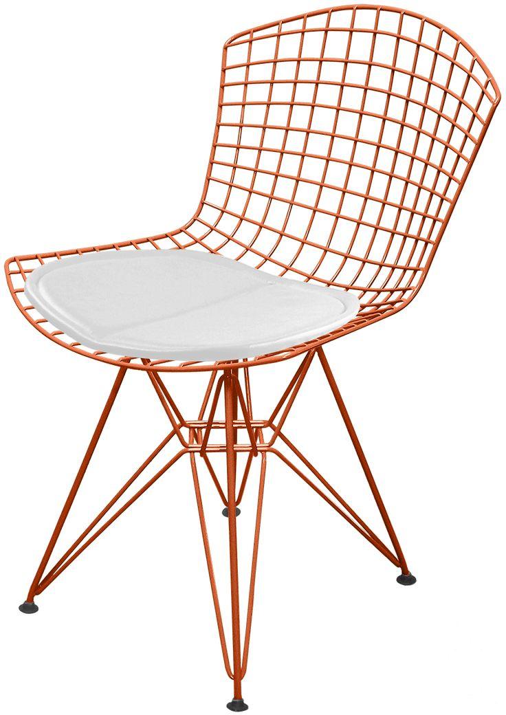 Cadeira Bertoia DKR Cobre com Assento - Linha Color