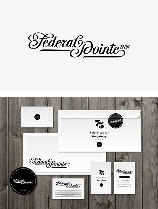 Federal Pointe Inn Identity by Miklós Kiss | Inspiration Grid | Design Inspiration