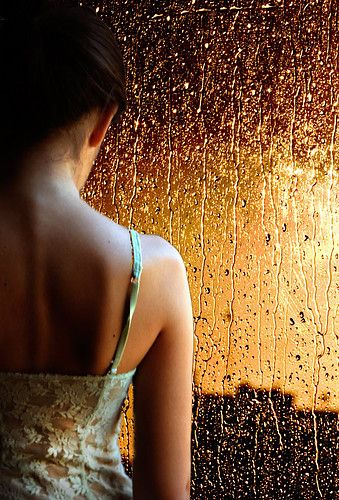 She watched as rain washed what they have been saving..