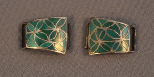 VINTAGE-ZUNI-SILVER-WATCH-BANDS-TURQUOISE-CHANNEL-INLAY