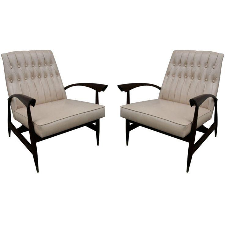 Pair Of 1960s Jorge Zalszupin Brazilian Armchairs. Vintage ChairsVintage ...