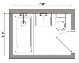 Best 25 5x7 bathroom layout ideas on pinterest small for Bathroom 8 x 8 layouts