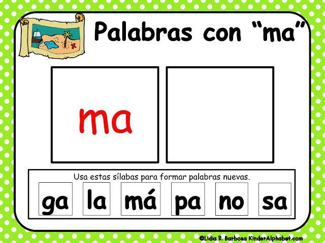 Haciendo palabras con silabas