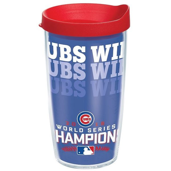 Chicago Cubs 2016 World Series Champions 24 Oz. Cubs Win Tumbler  #ChicagoCubs #FlyTheW #Cubs #WorldSeries SportsWorldChicago.com