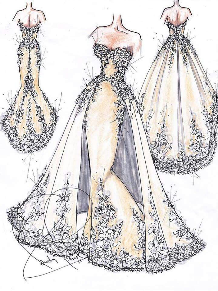17 best ideas about clothing sketches on pinterest for Design own wedding dress