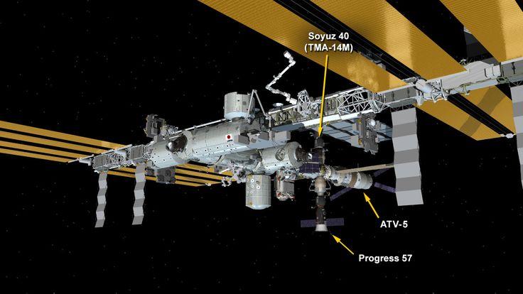 Station Avoids Satellite Debris After ATV-5 Fires Engines