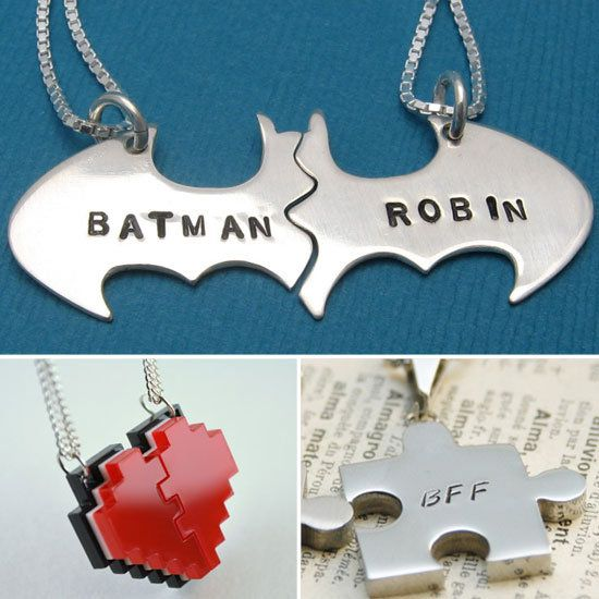 Unique Best Friend Necklaces We so need to get some of these!