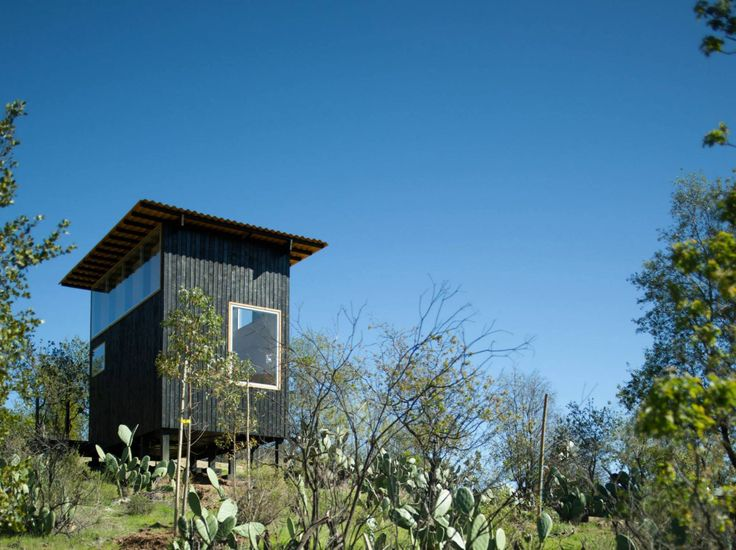 """A small cabin in Chile designed as """"a place to eat, sleep and read for two"""" and built for just $15,000. The studio cabin has a 161 sq ft footprint. 